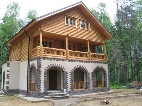 art 723 - Комбинированные здания из дерева